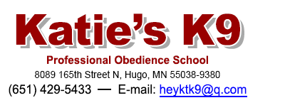 Katie's K-9 Professional Obedience School